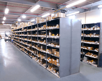 Vendor Manage Inventory Organized Parts Shelves - Progressive Hydraulics Inc.