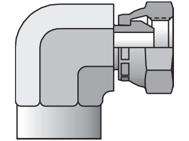 2207-2-2 Pipe Swivel 90° Elbow 2207
