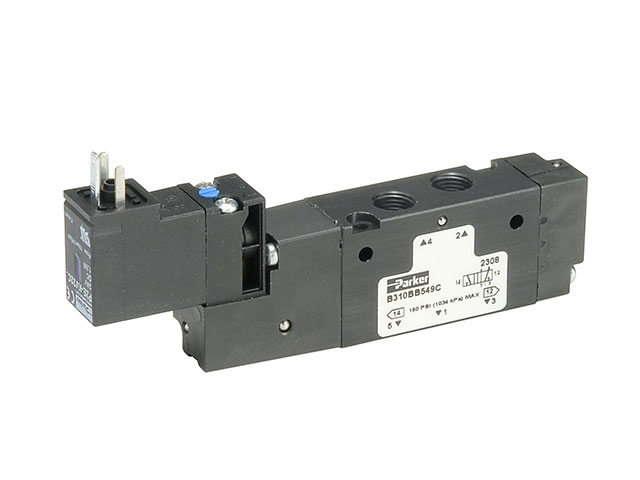 B612BB553A B Series Single Solenoid 4-way 2-position Valve