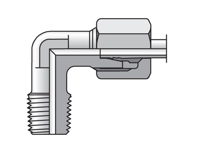 WE08LRMS EO/EO-2 90° Elbow, Male Connector - WE-R keg