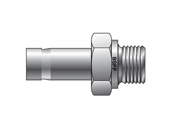 8MA8R-B A-LOK Inch Tube BSPP Tube End Male Adapter - MA R