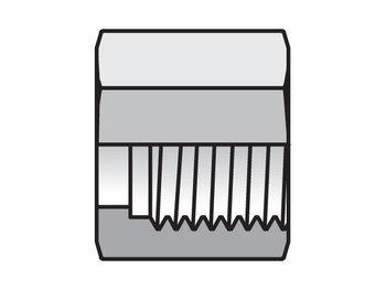16BMLS Seal-Lok ORFS Nut, Sleeve, Locknut BML