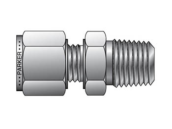 FBZ 6-1/2-SS CPI Metric Tube NPT Male Connector - FBZ
